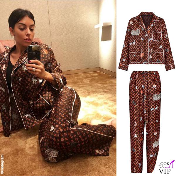 Georgina Rodriguez pigiama Louis Vuitton 3