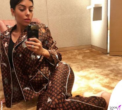 Georgina Rodriguez pigiama Louis Vuitton