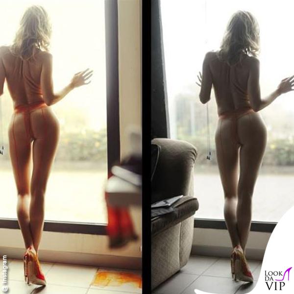 Justine Mattera nuda collant