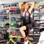 Justine Mattera outfit Giordana Cycling