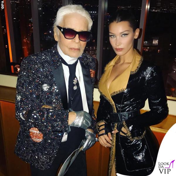 Karl Lagerfeld Bella Hadid Chanel 2017