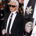 Karl Lagerfeld Cannes 2007 guanti gioielli cravatta