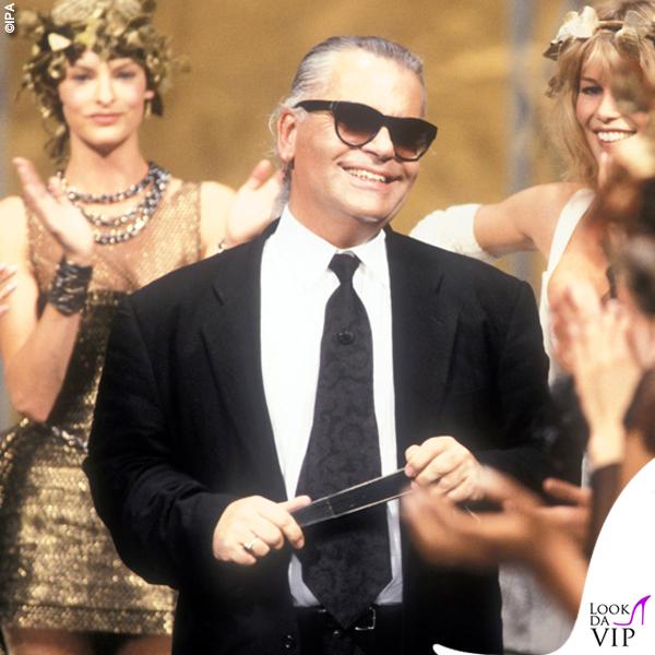 Karl Lagerfeld Claudia Schiffer sfilata Chanel 1993