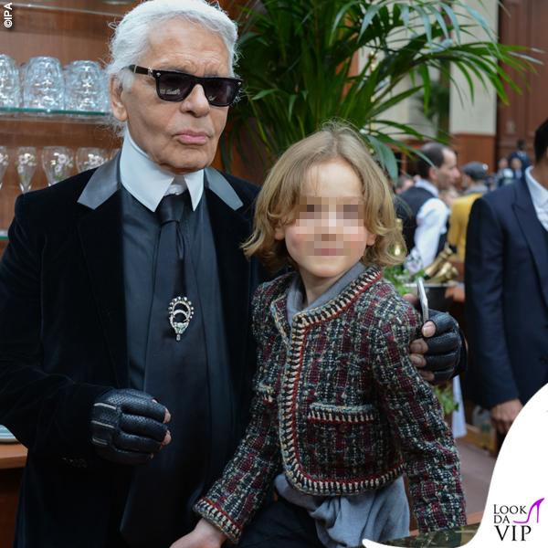 Karl Lagerfeld Hudson Kroenig 2015