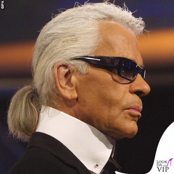 Karl Lagerfeld colletto codino