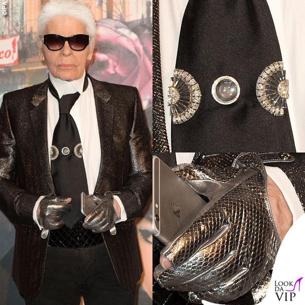 Karl Lagerfeld guanti gioielli cravatta