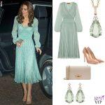 Kate Middleton abito Missoni, clutch Mulberry, pump Gianvito Rossi, gioielli Kiki McDonough 2