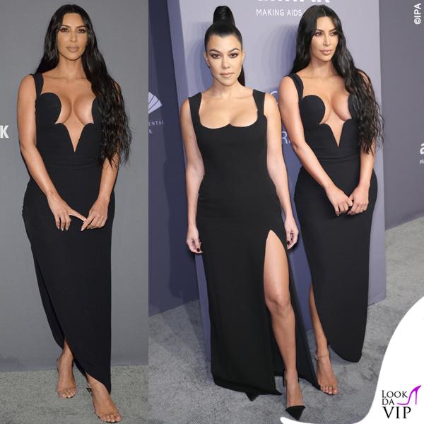 Kim Kardashian amFAR abito Versace 4