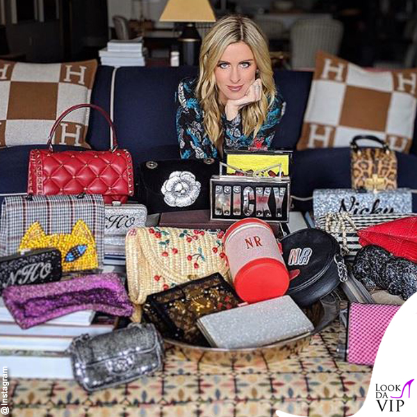 Nicky Hilton borsa Chanel Valentino Oscar de la Renta Paravel Chanel