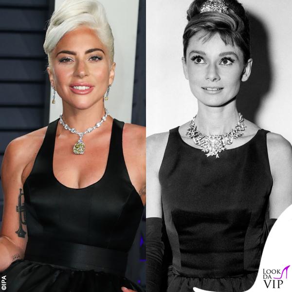 Oscar 2019 gioielli Tiffany abito Brandon Maxwell Audrey Hepburn , Look da  Vip