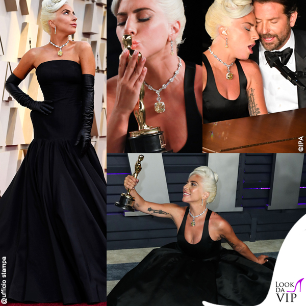 Oscar 2019 gioielli Tiffany abito Brandon Maxwell abito Alexander McQueen Bradley Copper abito Tom Ford