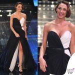 Sanremo 2015 3 serata Anna Tatangelo abito Francesco Paolo Salerno scarpe Le Silla