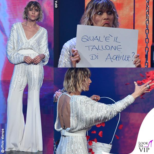 Sanremo-2019-Anna-Foglietta-tuta-alberta-Ferretti-Limited-Edition-prima-serata