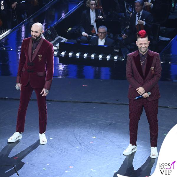Sanremo 2019 Boomdabash outfit Dolce&Gabbana