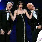 Sanremo 2019 Claudio Baglioni Claudio Bisio Virginia Raffaele abiti Ermanno Scervino Armani Privé Etro
