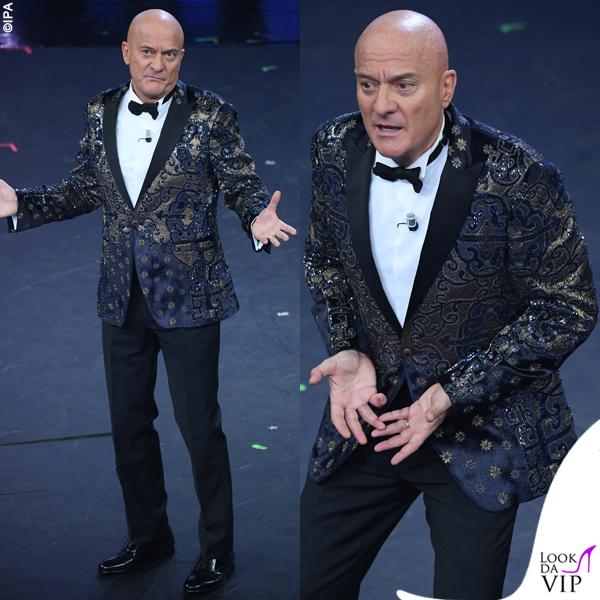Sanremo 2019 Claudio Bisio outfit Etro prima serata
