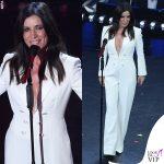 Sanremo 2019 Paola Turci tuta DSquared2