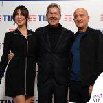 Sanremo 2019 Virginia Raffaele abito Armani Claudio Baglioni in Ermanno Scervino Claudio Bisio