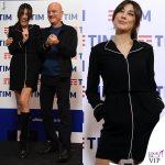 Sanremo 2019 Virginia Raffaele abito Armani Claudio Bisio