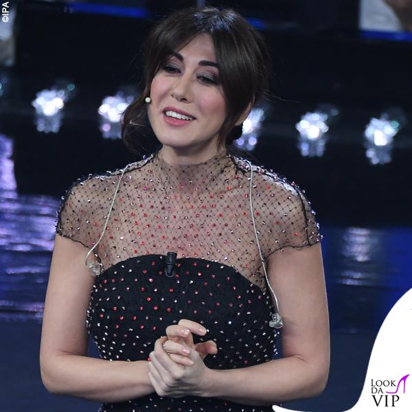 Sanremo 2019 Virginia Raffaele abito Armani Privé 3