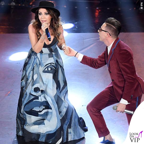 Sanremo 2019 quarta serata Cristina D'Avena outfit Mario Dice