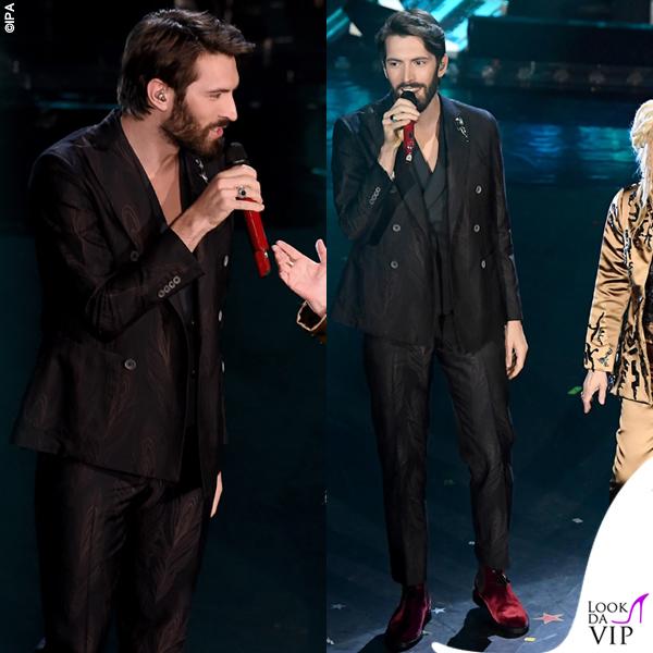 Sanremo 2019 quarta serata Giovanni Caccamo outfit Pal Zileri