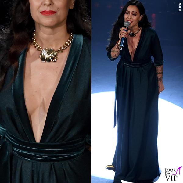 Sanremo 2019 quarta serata Syria abito Luisa Beccaria