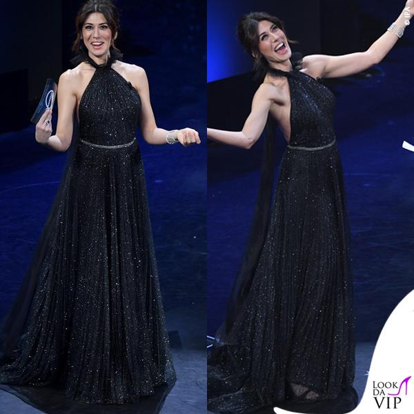 Sanremo 2019 quarta serata Virginia Rafaele abito glitter Philosophy di Lorenzo Serafini 1