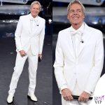 Sanremo 2019 quinta serata Claudio Baglioni outfit Ermanno Scervino