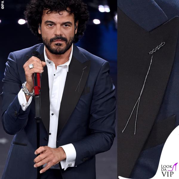 Sanremo 2019 quinta serata Francesco Renga in Maurizio Miri