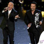 Sanremo 2019 quinta serata Luis Fonsi giacca Dsquared2