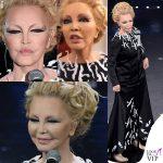 Sanremo 2019 quinta serata Patty Pravo in Simone Folco e ciglia finte