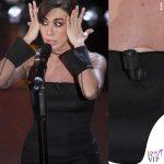 Sanremo 2019 quinta serata Virginia Rafaele abito Armani Prive buco