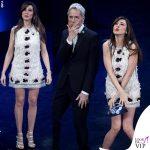 Sanremo 2019 terza serata Virginia Raffaele abito fiori Giambattista Valli 1