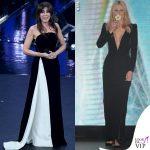 Sanremo Virginia Raffaele Michelle Hunziker abiti Armani