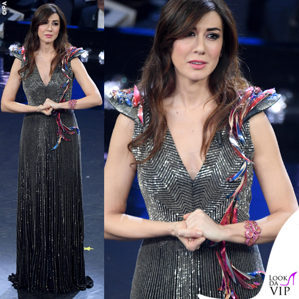 Virginia Raffele abito argento Schiaparelli Haute Couture 2