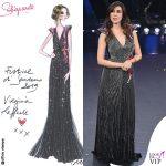 Virginia Raffele bozzetto abito argento Schiaparelli Haute Couture