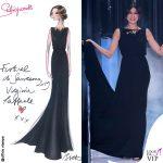 Virginia Raffele bozzetto abito nero Schiaparelli Haute Couture