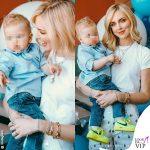 1 compleanno Leone Lucia Ferragni camicia Polo Ralph Lauren scarpe Off White x Nike Chiara Ferragni pant Philosophy scarpe Dior 1