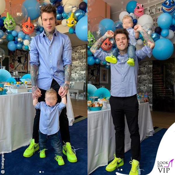 1 compleanno Leone Lucia Ferragni camicia Polo Ralph Lauren scarpe Off White x Nike Fedez sneakers Off White x Nike 2