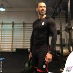 Ascanio Pacelli outfit Hydrogen palestra
