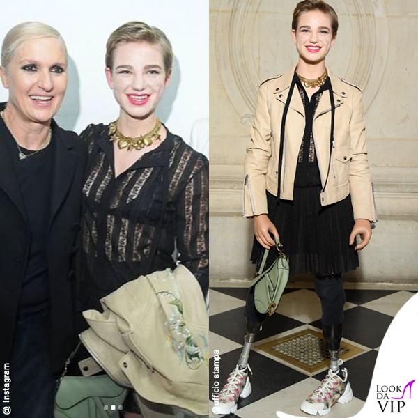 Bebe Vio outfit Dior borsa Saddle bag Dior