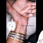 Belen Rodriguez bracciali Cartier 3
