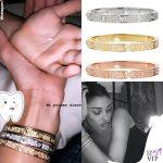 Belen Rodriguez bracciali Cartier 5