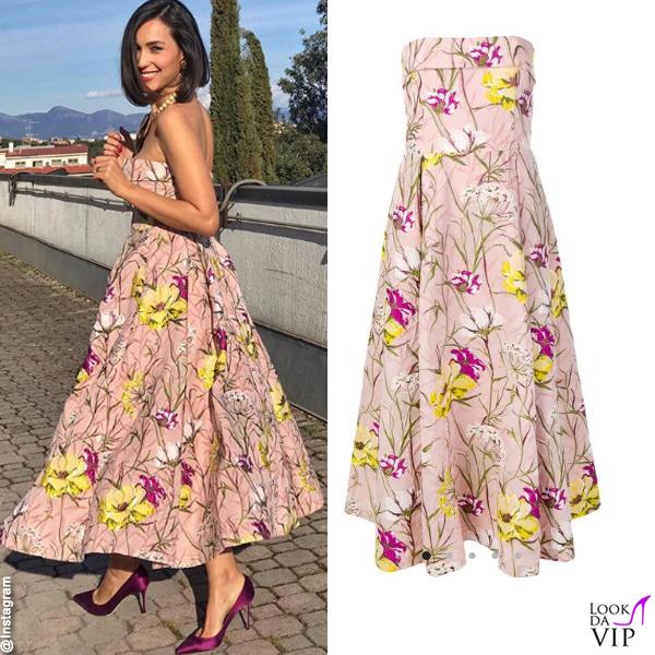 premium selection b8f70 a9e43 Caterina Balivo abito Blumarine - Look da Vip