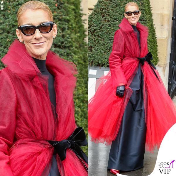 Celine-Dion-cappotto-Oscar-de-la-Renta-pump-Alexandre-Vauthier-occhiali-Tom-Ford 2