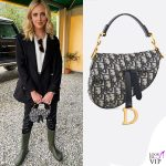 Chiara Ferragni borsa Saddle bag Dior