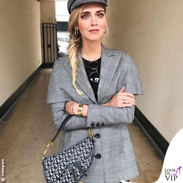 Chiara Ferragni borsa Saddle bag Dior 2017