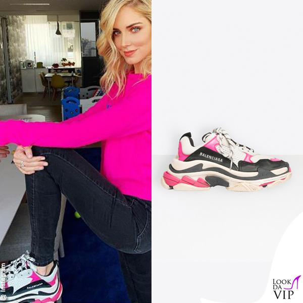 Chiara Ferragni sneakers Balenciaga