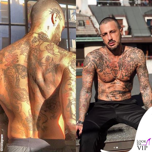 Fabrizio Corona tatuaggi schiena